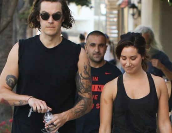 Hitting the gym with her husband