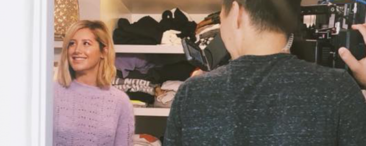 Ashley Tisdale Gives a Tour of Her Closet in 180°